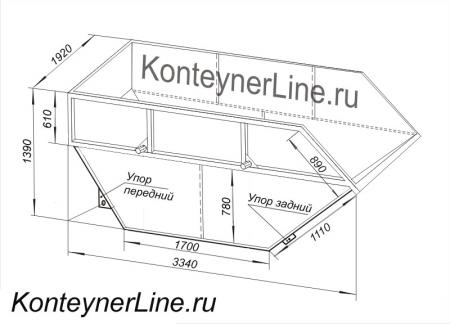 Мусорные контейнеры, Бункер накопитель БНУ-8